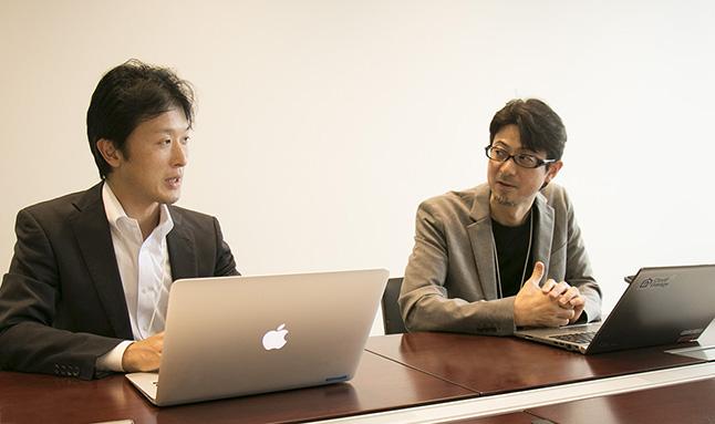 NHNテコラスが考えるWAF搭載やDDoS対策を施したセキュアなサーバーが選ばれる理由とは? NHNテコラス株式会社小柳津 純(右)平賀 真琴(左)